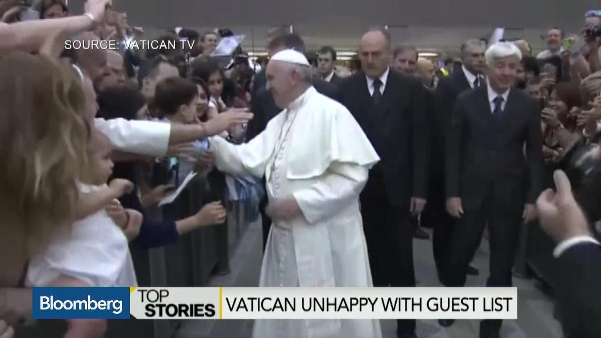 Vatican voices displeasure with White House guest list