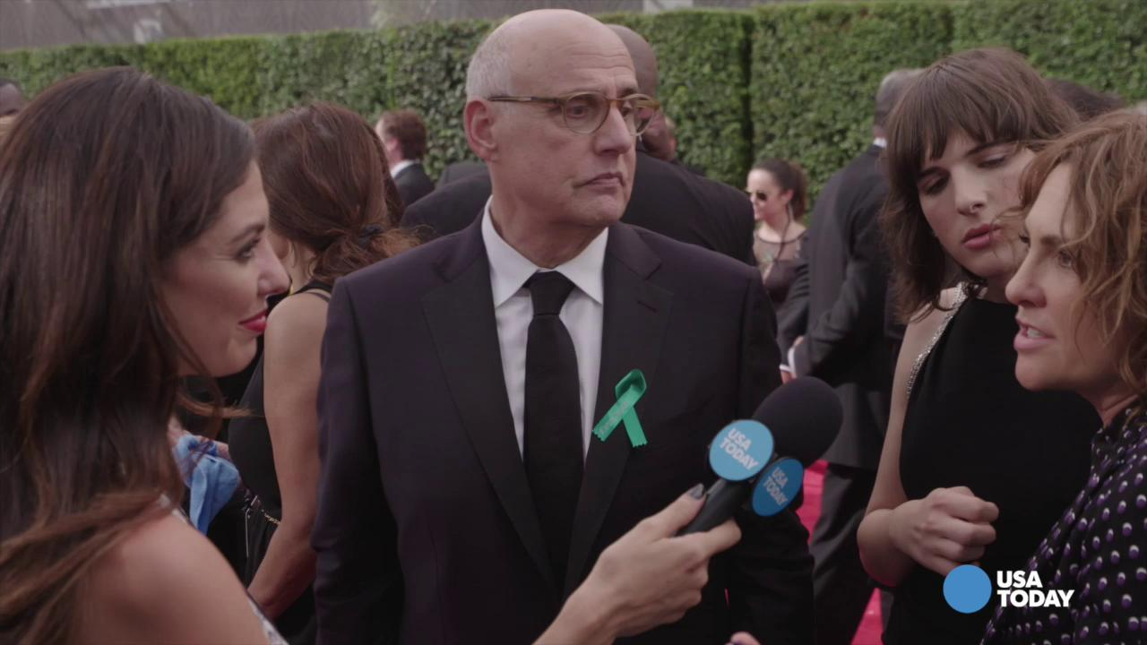 "Amy Landecker, left, and Jeffrey Tambor appear in a scene from ""Transparent."""