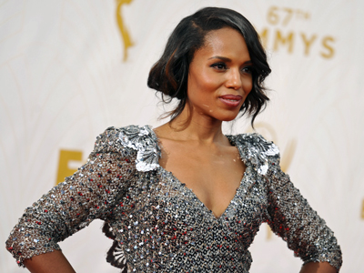 Stars Try to Stay and Look Cool on Emmy Carpet