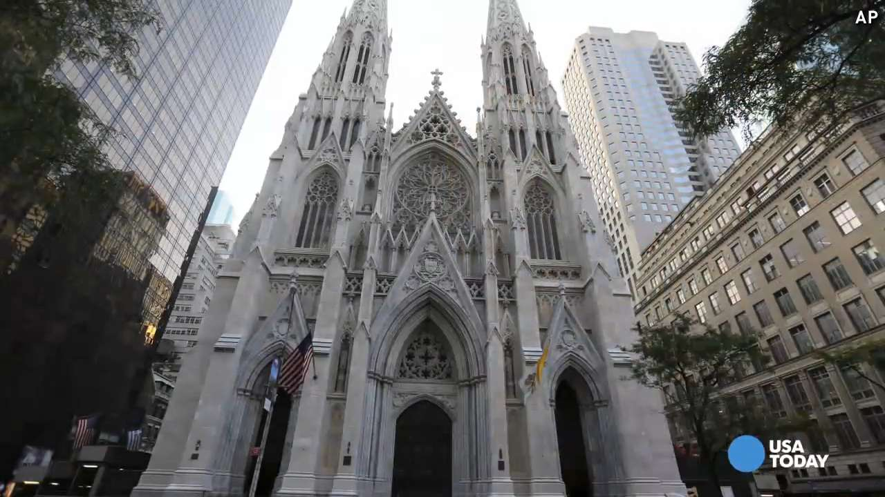Pope visiting St. Patrick's Cathedral in NYC