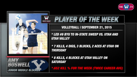 Video | Volleyball Player of the Week | September 21, 2015