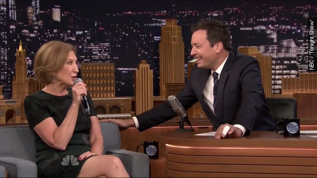 Watch Carly Fiorina sing about her dog on The 'Tonight Show'
