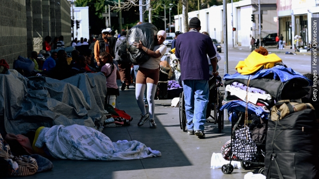 Los Angeles declares homelessness A public emergency