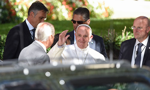 Trying for a glimpse of Pope Francis