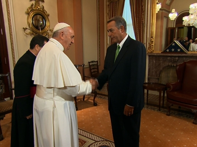 Pope Arrives at Capitol for Historic Speech