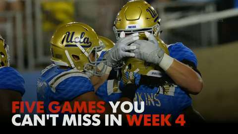 5 college football games you can't miss in Week 4