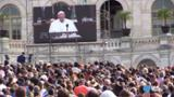 Sights and sounds of Pope Francis on Capitol Hill