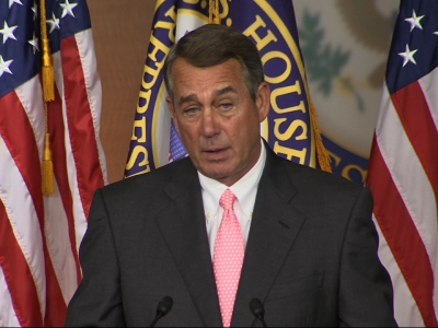 Boehner: Resigning for the good of the House
