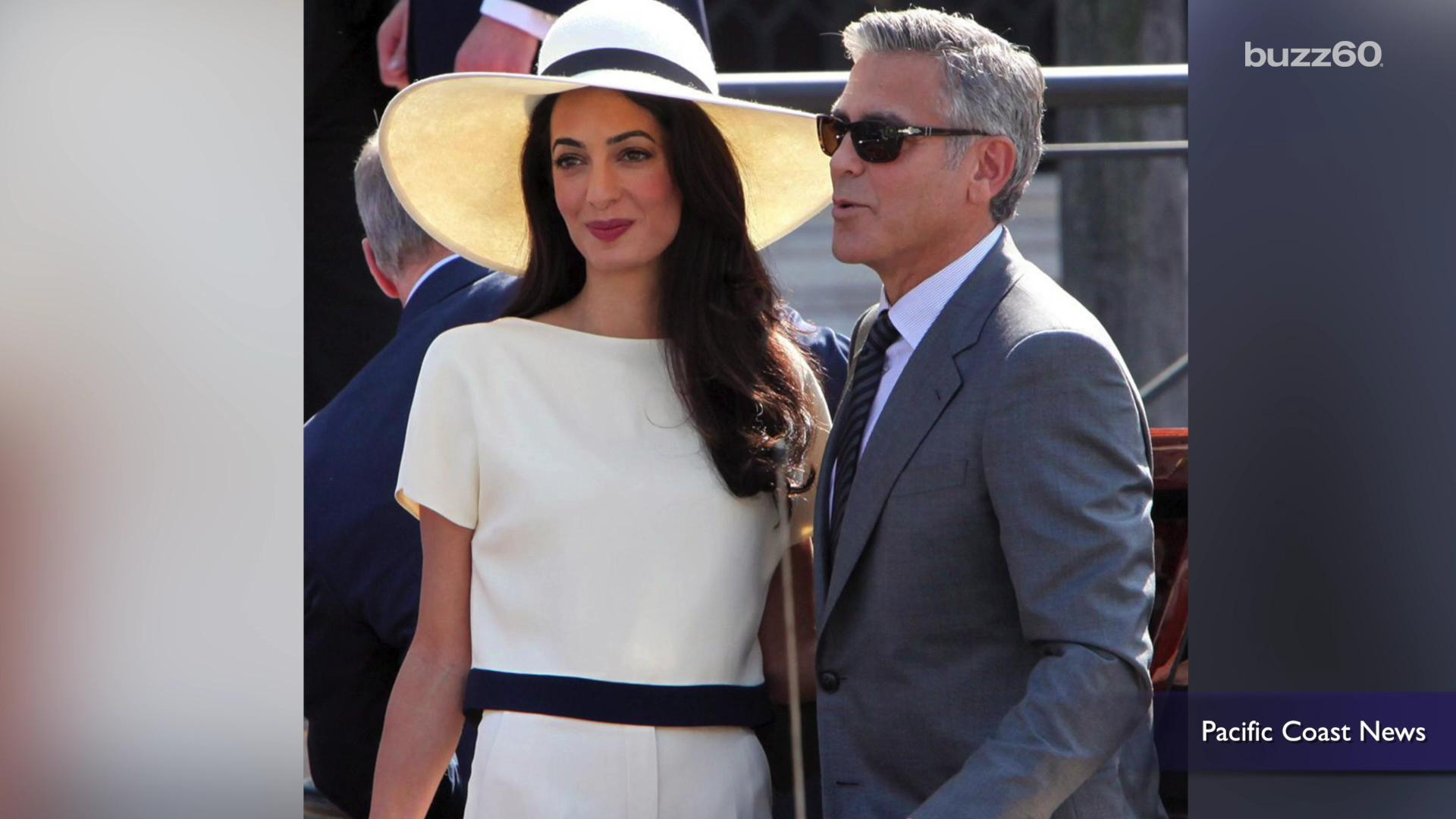 George and Amal Clooney celebrate 1st anniversary