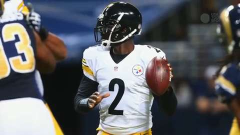 Pittsburgh Steelers quarterback Michael Vick (2) waves to fans after defeating the St. Louis Rams 12-6 at the Edward Jones Dome.