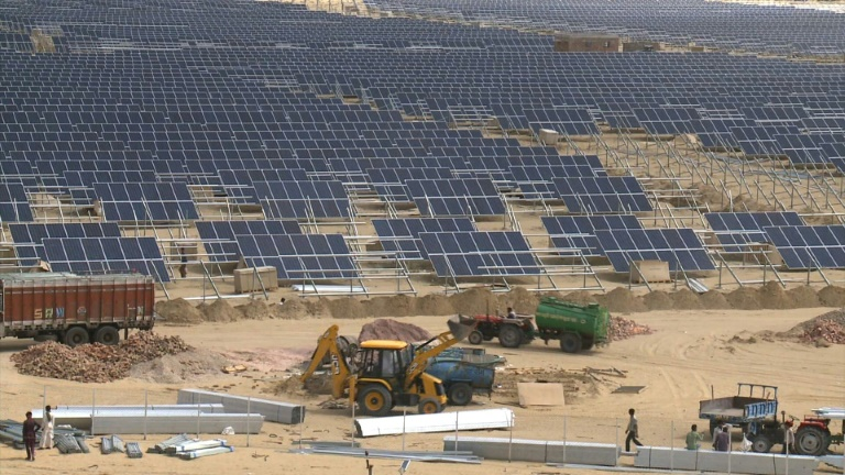 India bets on solar power for bright future