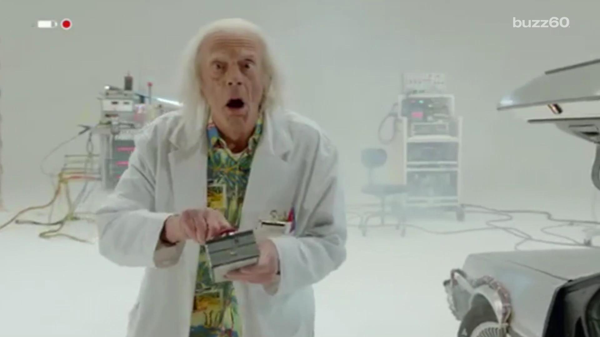 Doc Brown comes 'Back to the Future' for all new short in trilogy's 30th anniversary re-issue