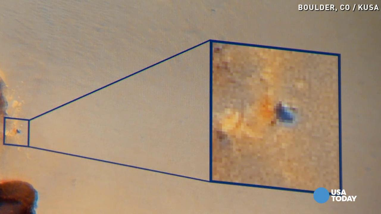 Here's how a camera captured photos of water on Mars