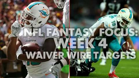 USA TODAY Sports gets you ready for Week 4 of fantasy football with this week's top 5 Waiver Wire targets.