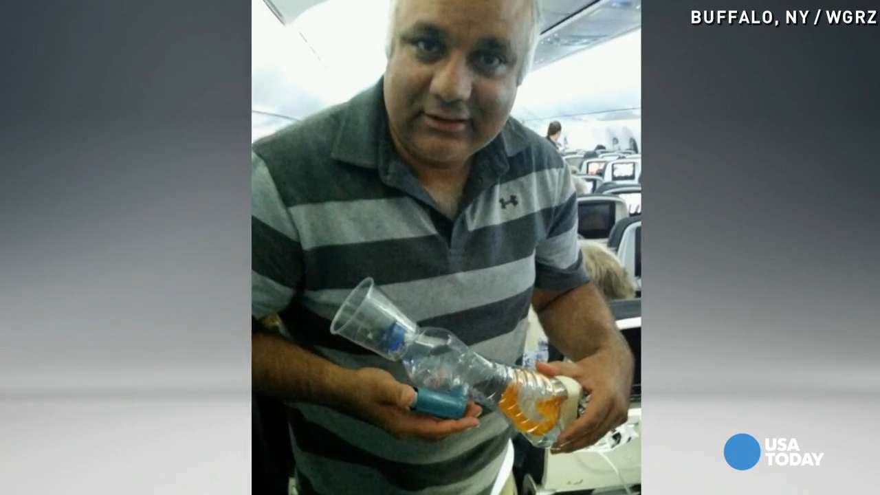 Doctor saves baby's life in mid-air during flight