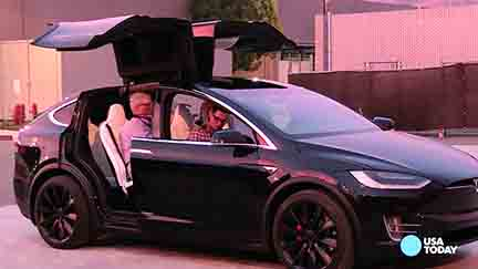 'Falcon wing doors' a highlight on the new Tesla X