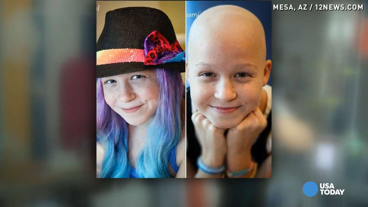 Girls take cancer wigs to a new, awesome level