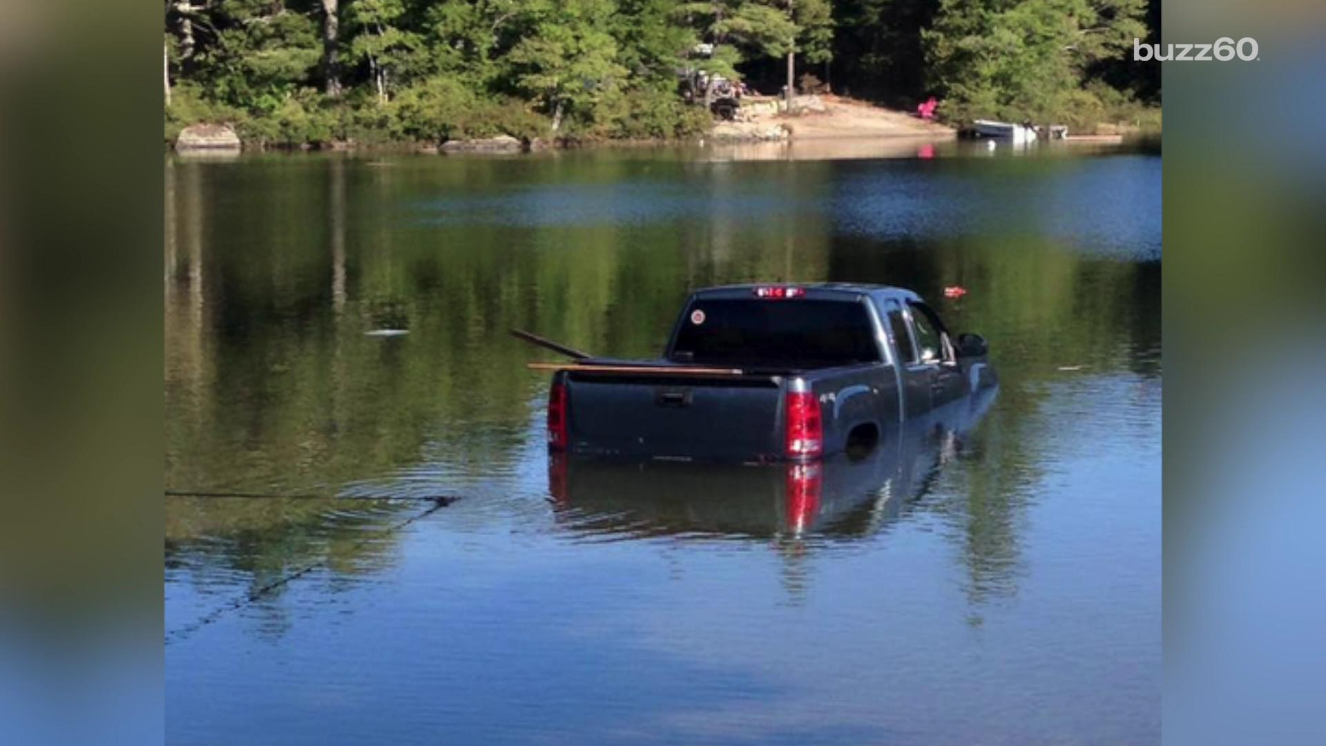 Dog drives owner's truck into the lake
