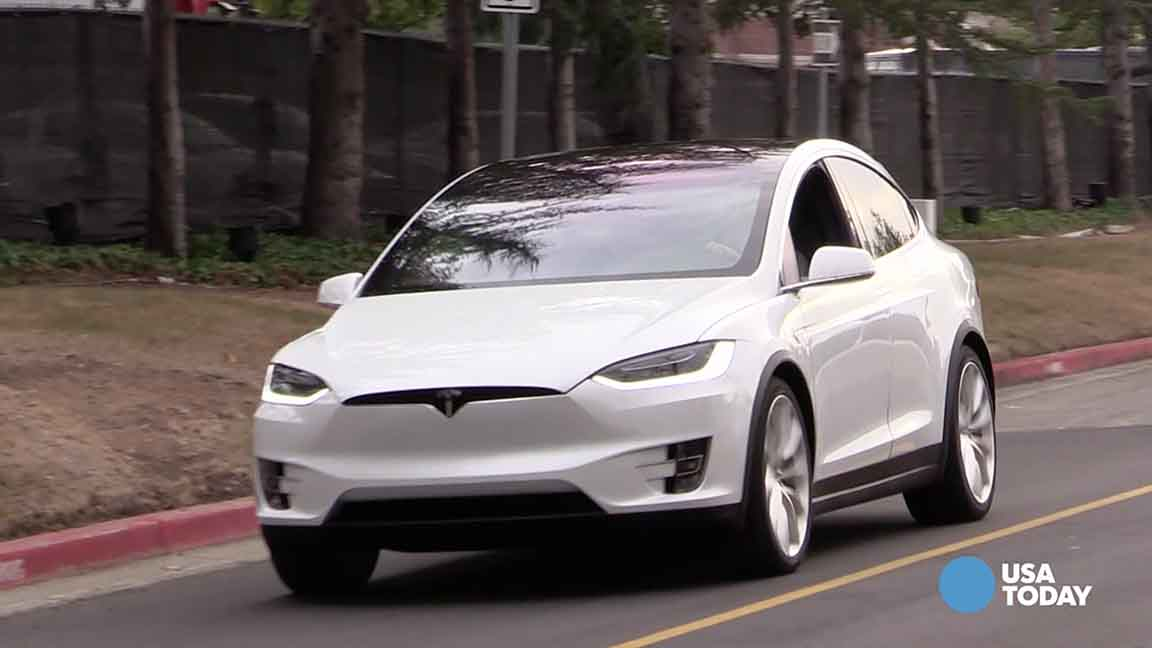 Take a spin behind the wheel of Tesla's Model X