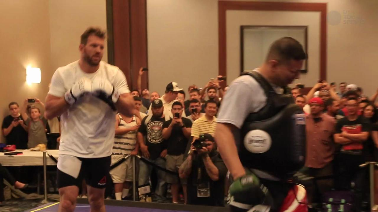 UFC 192 open workouts highlights