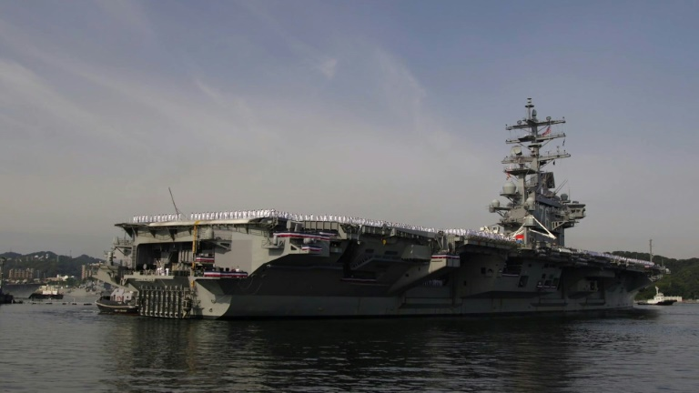American aircraft carrier arrives in Japanese port
