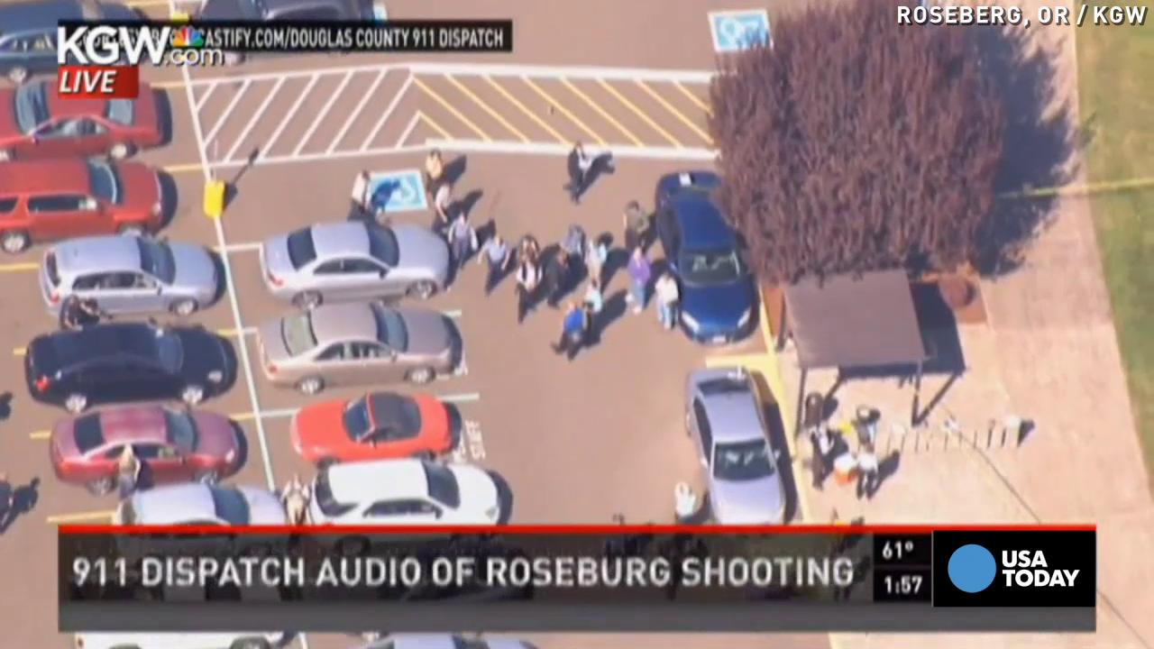 Listen as police respond to shooting at Oregon college