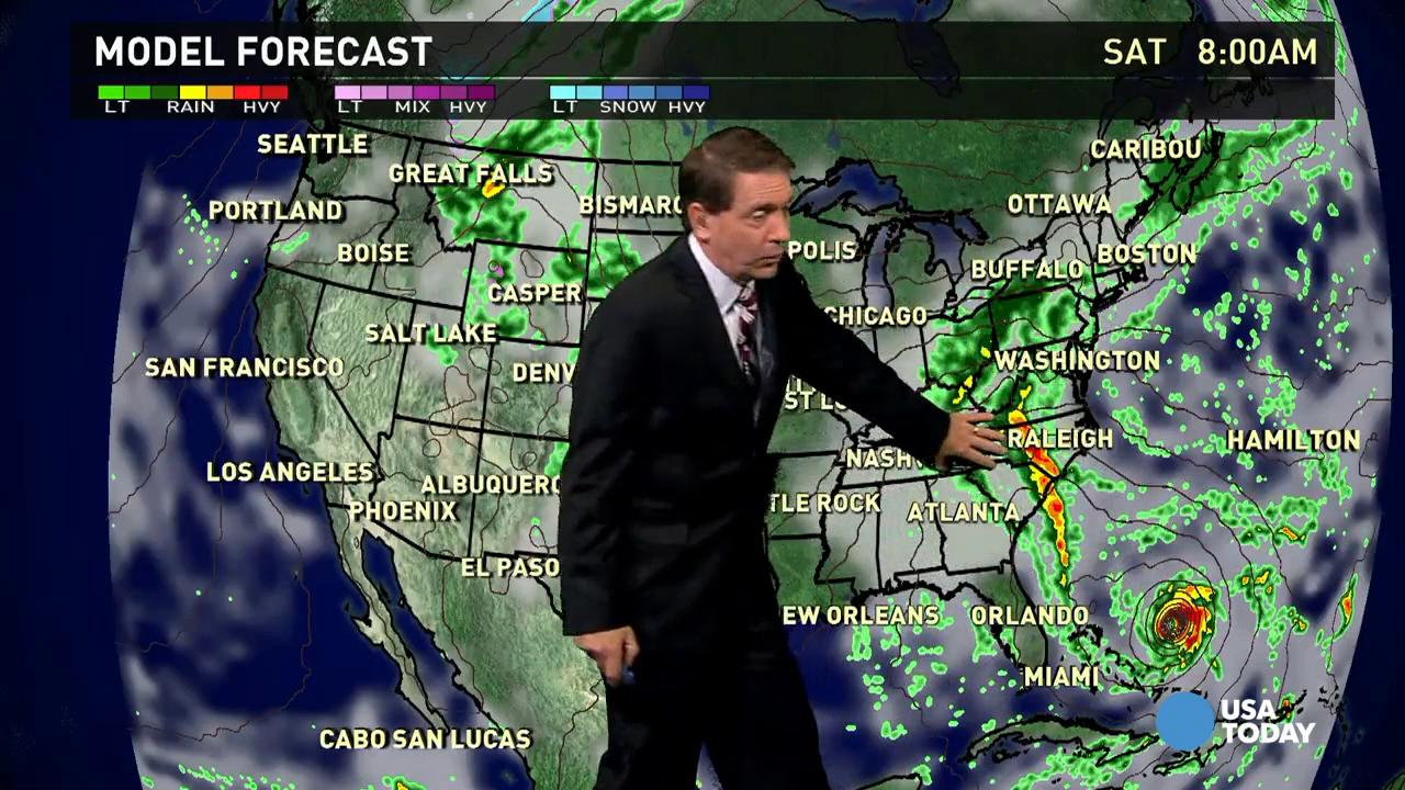 Friday's forecast: Heavy rains coming to the East Coast