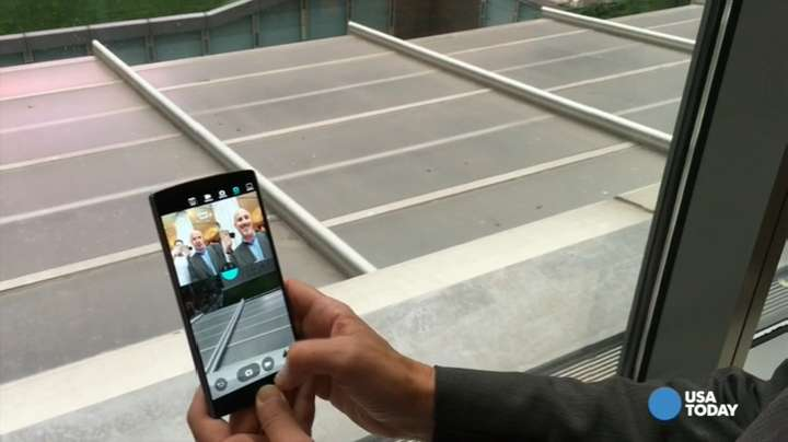 LG's new dual screened and dual front cameras has a few nifty tricks including Multi-View, which lets you take a picture using both front cameras and the rear camera.