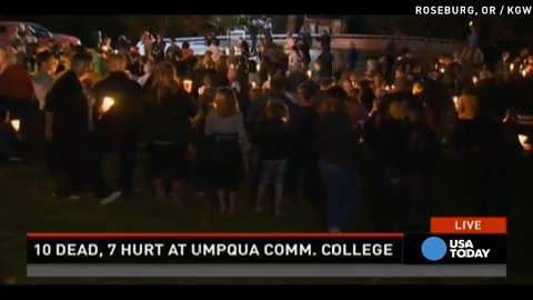 Vigil held for Oregon shooting victims