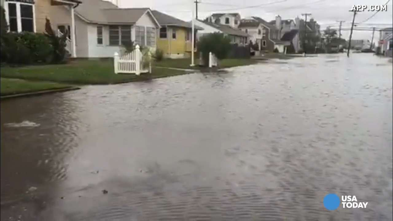 Heavy rain causes flooding up and down East Coast