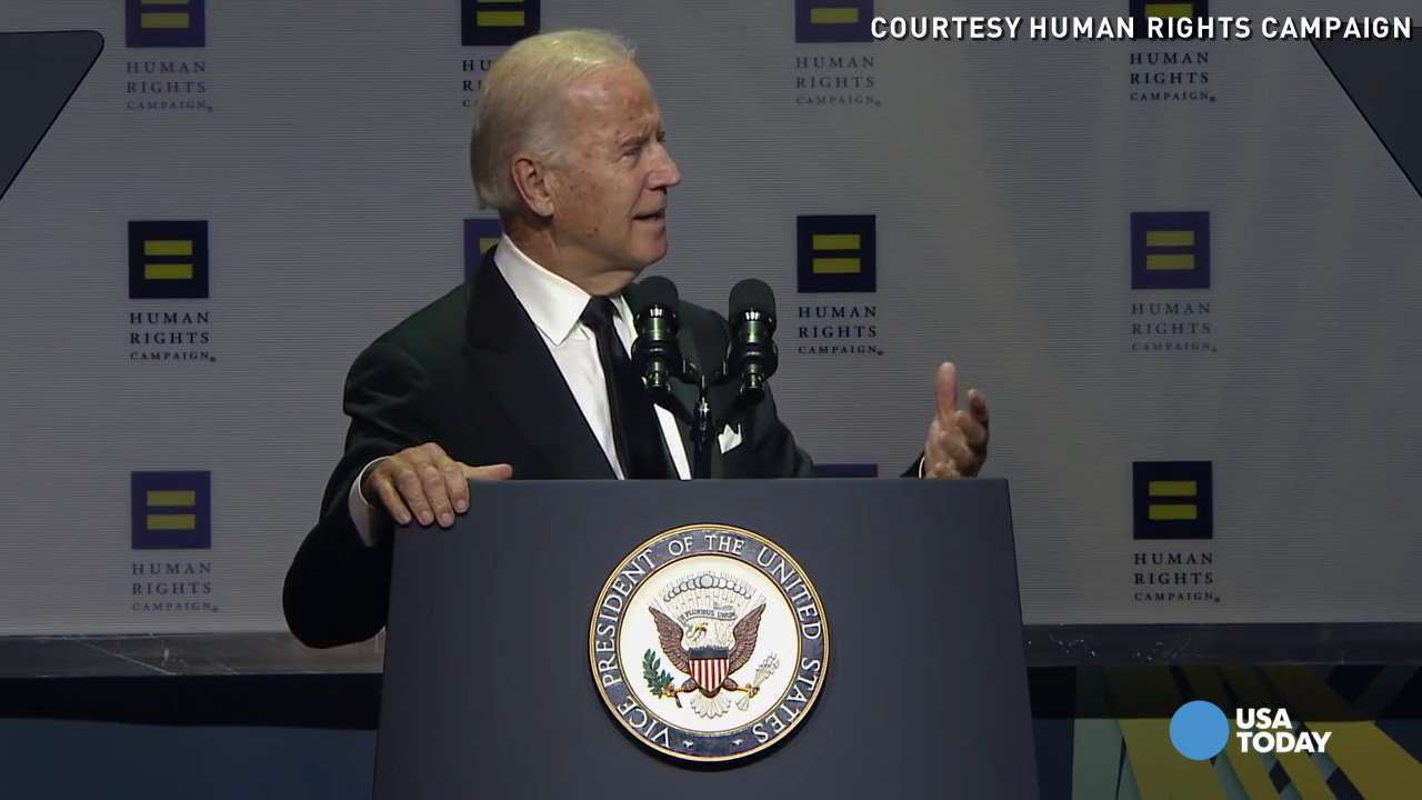 Biden: Love is not political, it's a basic human right