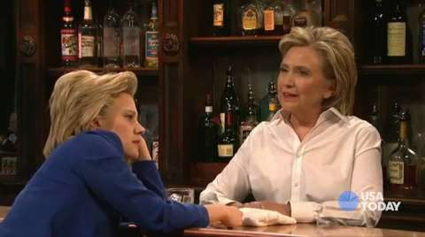 Punchlines: Hillary Clinton makes her SNL debut