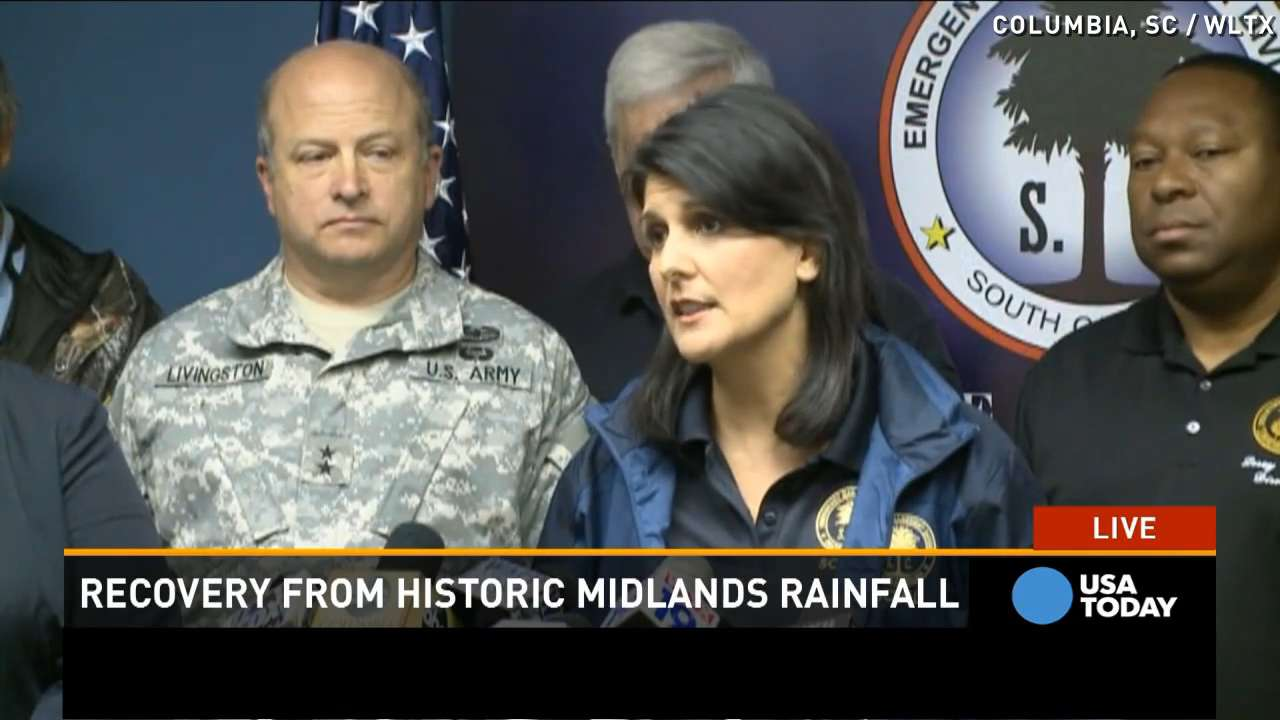 South Carolina governor: Flood dangers 'very real'