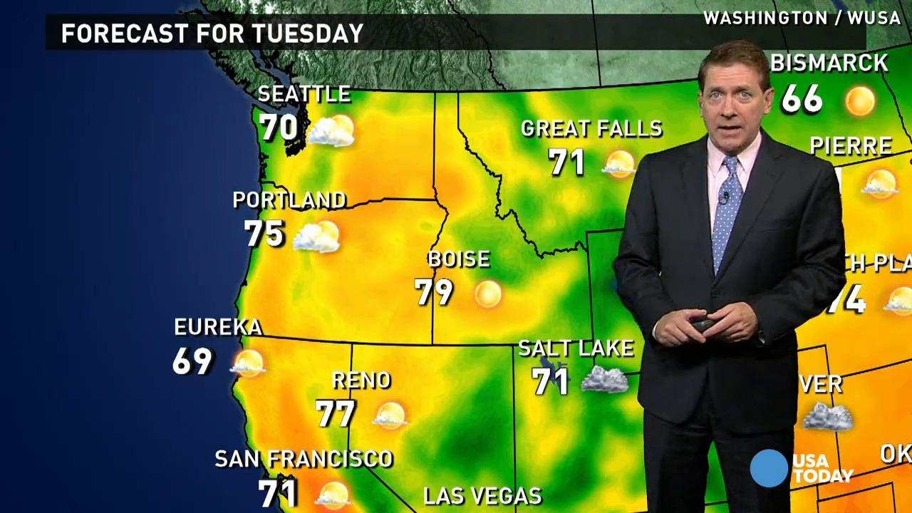 Tuesday's forecast: Nice for most of U.S.