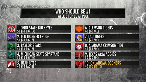 Who Should Be No. 1 After Week 5?