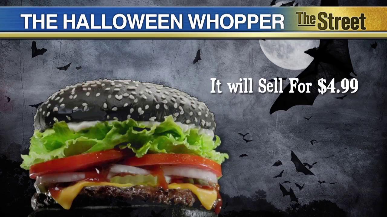 The black arts: Burger King unveils Halloween Whopper