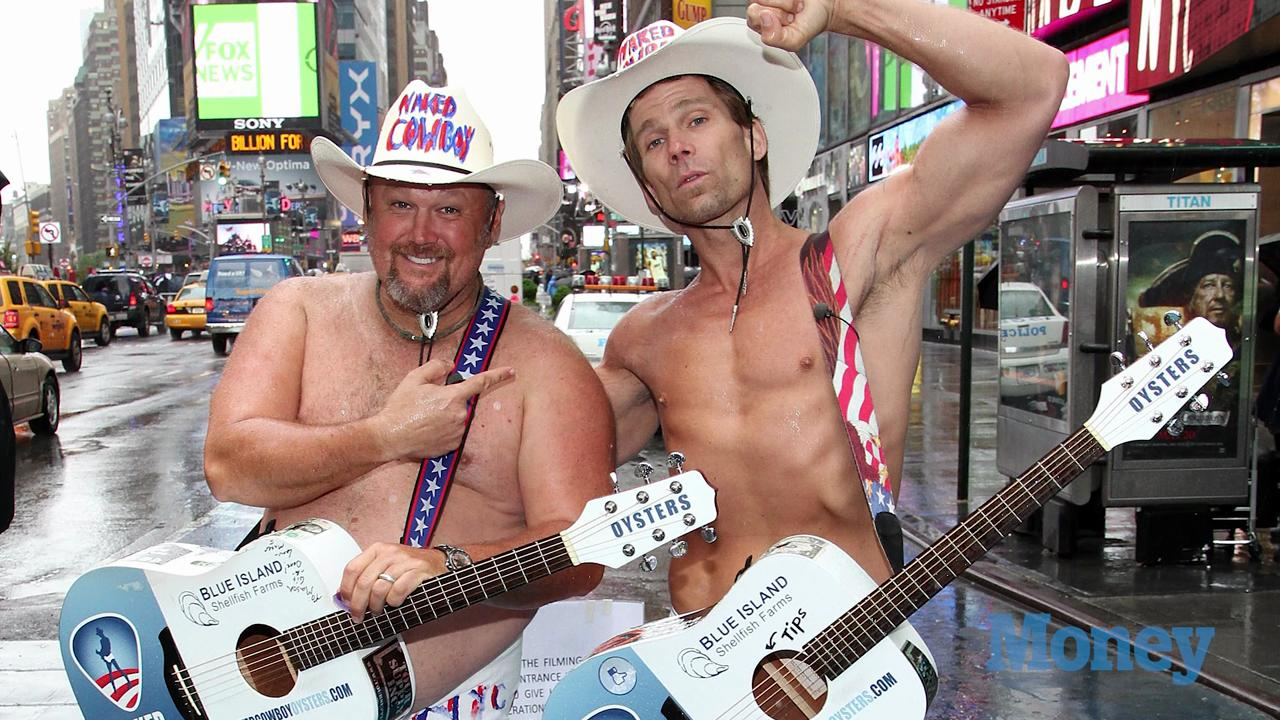 The Naked Cowboy, Times Square, New York City | The