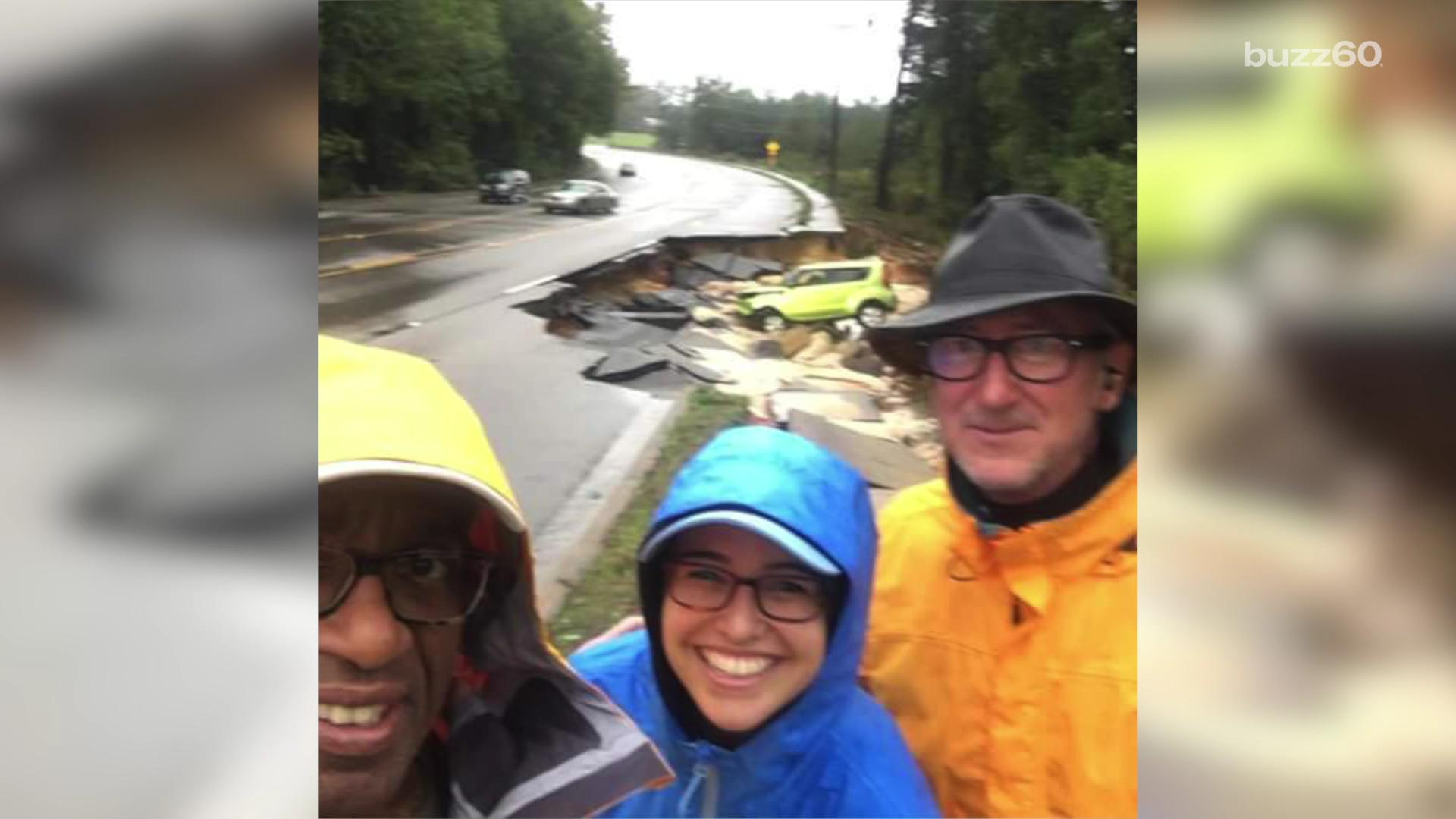 Al Roker sorry for smiley South Carolina flood selfie