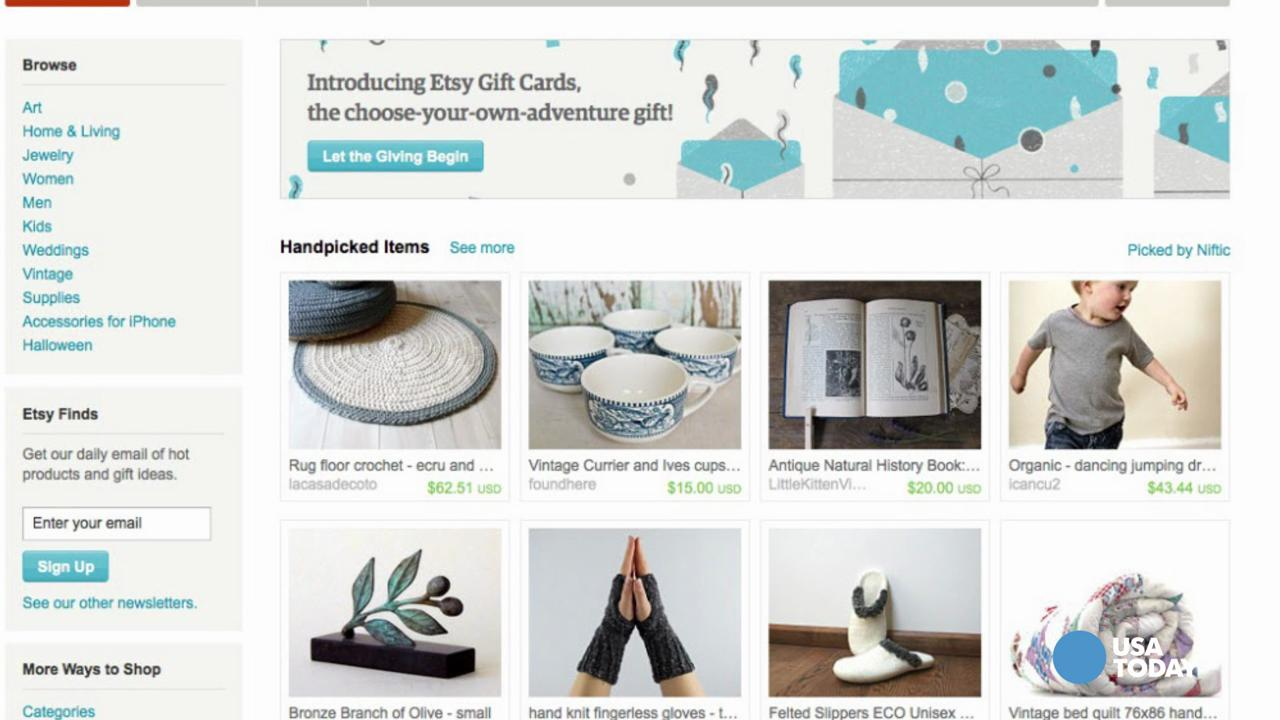 Amazon launches Etsy killer with 'Handmade'
