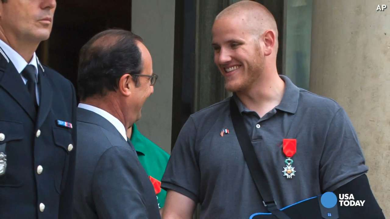 French train hero Spencer Stone stabbed in California