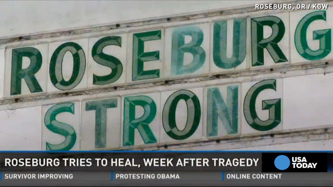 'Roseburg Strong' is theme a week after Umpqua shooting