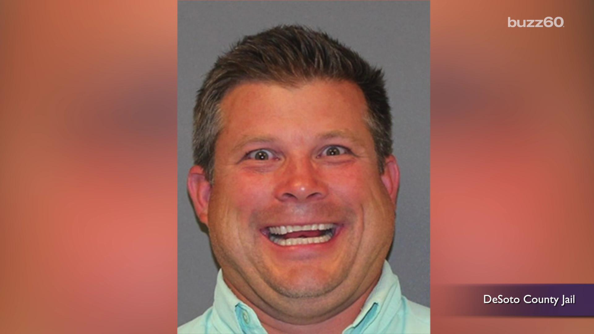 Elected official looks super happy to get arrested in mugshot