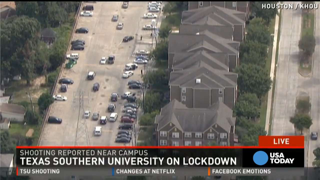Texas university on lockdown after 2 people shot