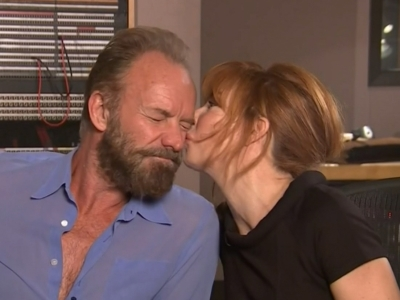 Sting and Mylene Farmer's hot music video