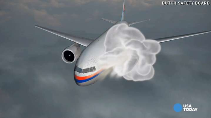 Animation illustrates MH17's final moments
