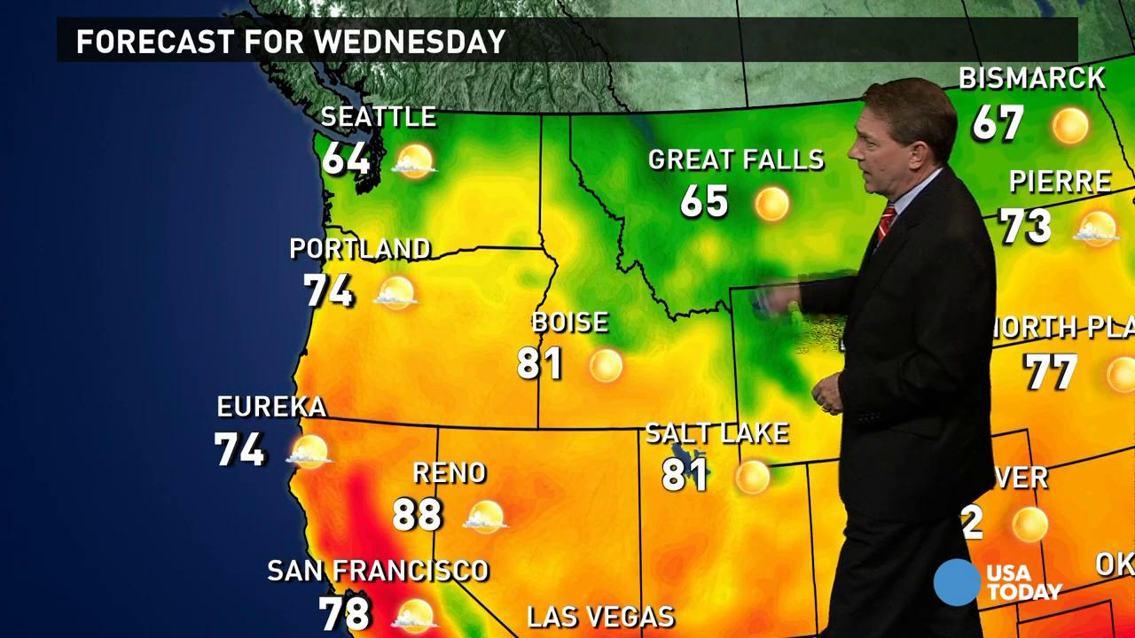Wednesday's forecast: Quiet in the lower 48 states