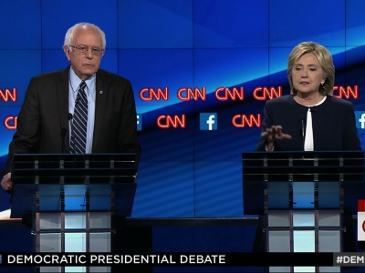 Clinton, Sanders Clash On Guns, Foreign Policy