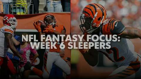 USA TODAY Sports gets you ready for Week 6 of fantasy football with this week's top sleepers.