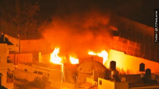Palestinian rioters set fire to Joseph's tomb in West Bank