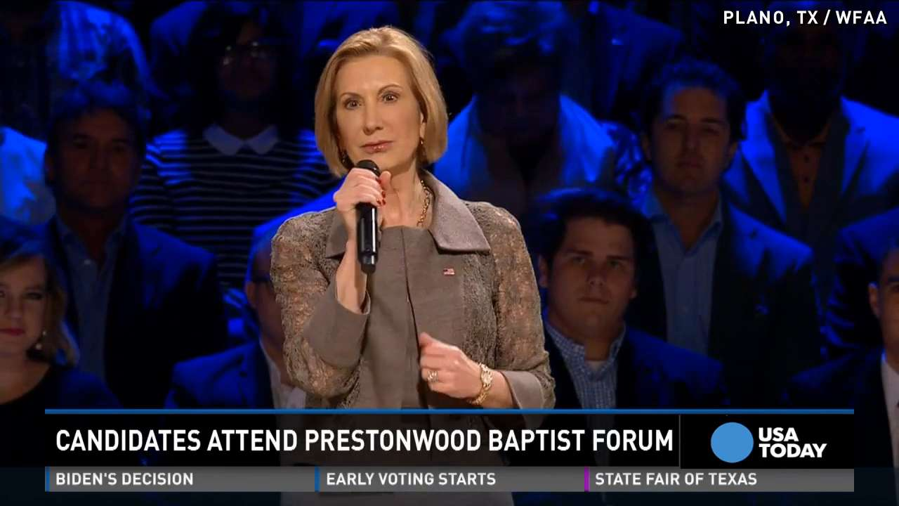 Republican candidates woo voters at Texas megachurch